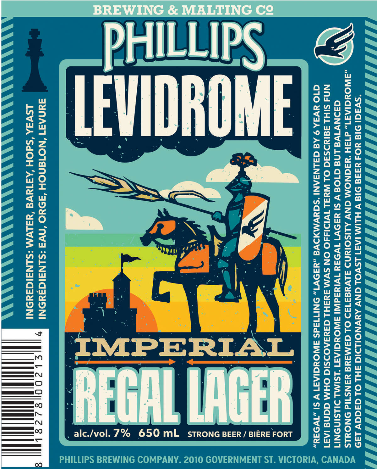 Phillips Levidrome Lager Regal Label