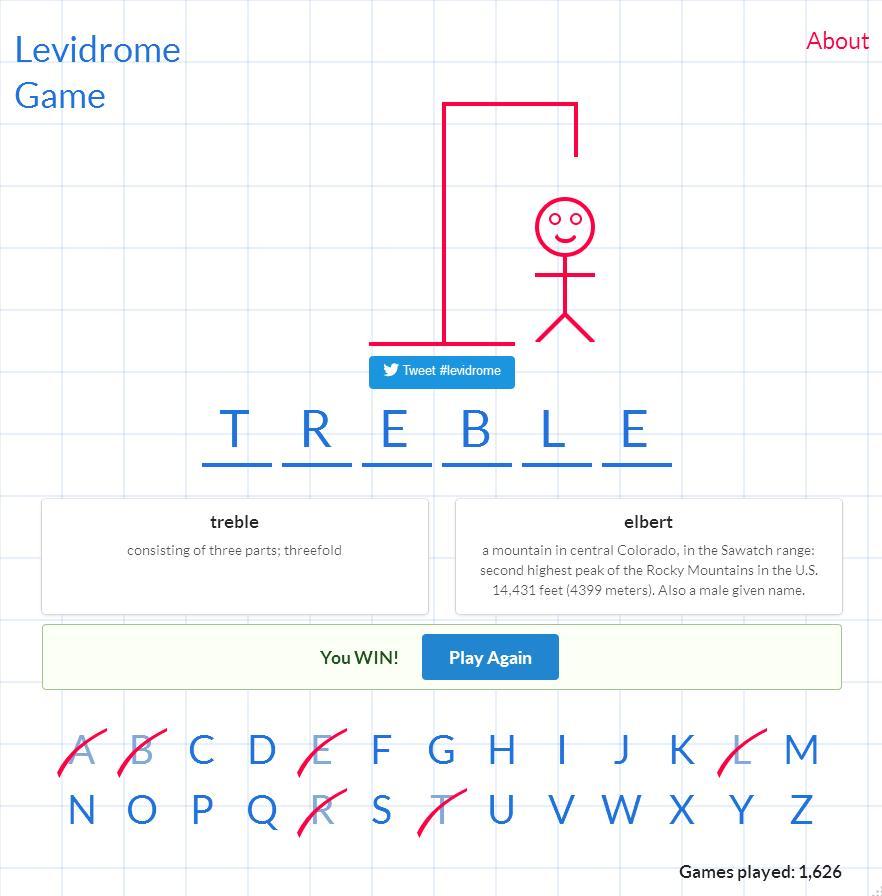 Levidrome Game